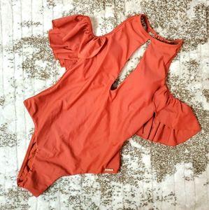 🍒2/$22 Ruffle Off Shoulder Swimsuit